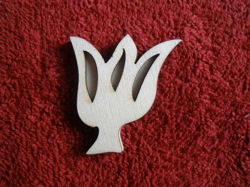 Razítko překližka tulipán květ - v.4x3,6cm Kliknět