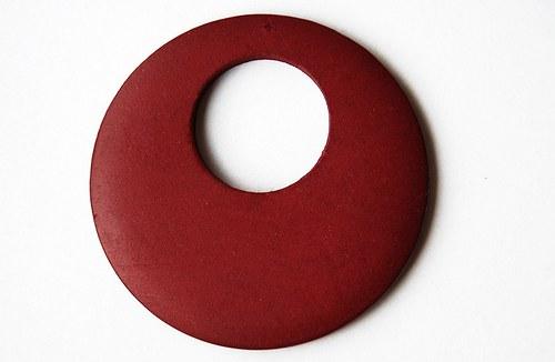Dřevěné kolečko - červenohnědé