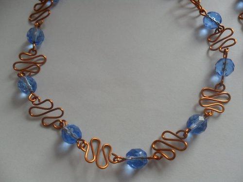 SLEVA Modrá vlnka - náhrdelník var- II.
