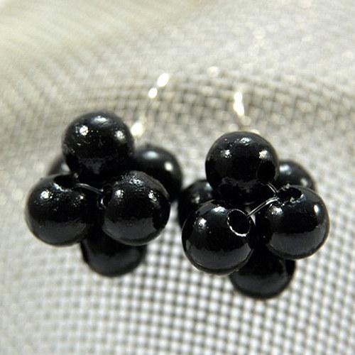 Náušnice Berries Black