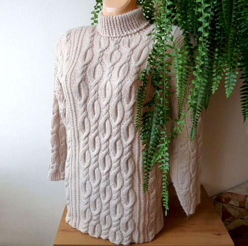 Zimní teplý svetr - zasněžená romance