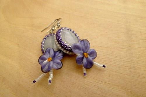 Frozen violets