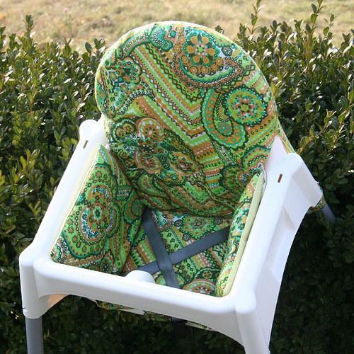 Střih+fotonávod - sedák k jídelní židličce z IKEA