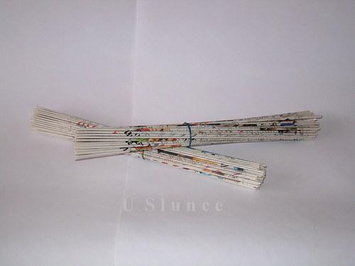 Ruličky na pletení košíků barevné