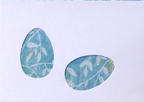 Stránka se dvěma kraslicemi - barva podle přání