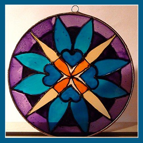 Mandala tyrkysovo-fialová