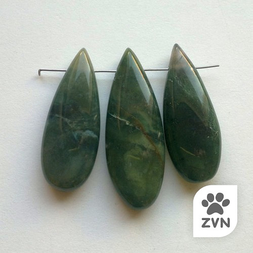 achát 209 korálky, sada 3 kusy (4,4 a 3,9 cm)