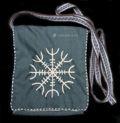 Ægishjálmur - taška s výšivkou a karetkou