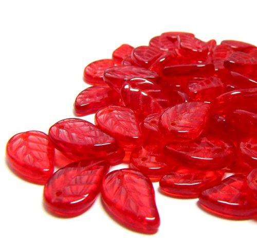Červené korálky, jedno balení = 20 ks.