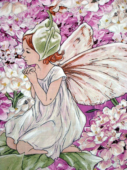 Petal fairies panel pink