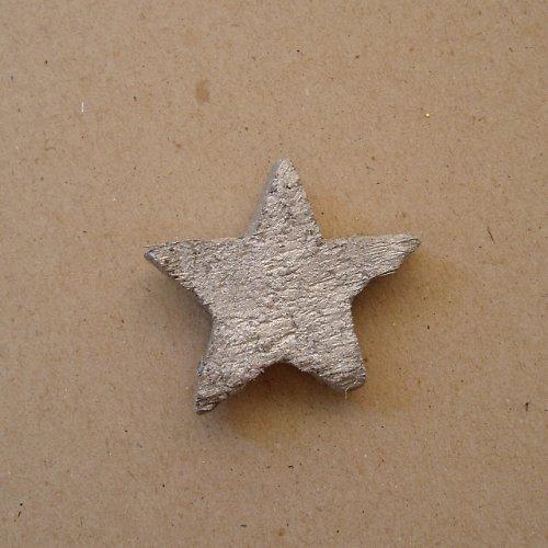 Hvězda kokos - stříbro 1 ks