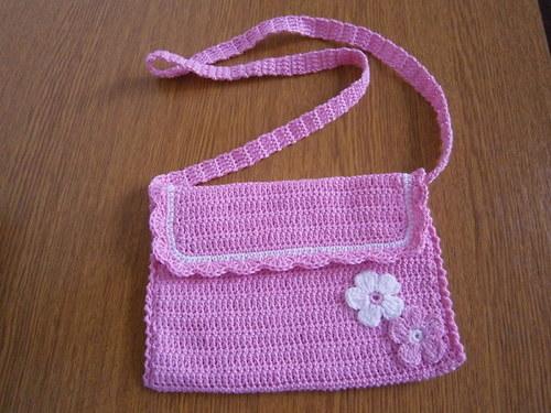 háčkovaná kabelka pro malé slečny