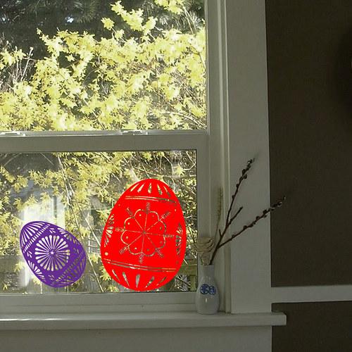 Samolepka velikonoční vajíčka