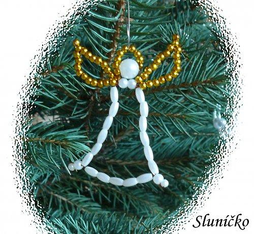 Ozdoby na stromek- andělíček