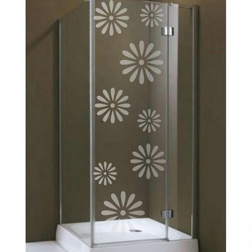 (155g) Nálepka na sprchovací kút - Kvety