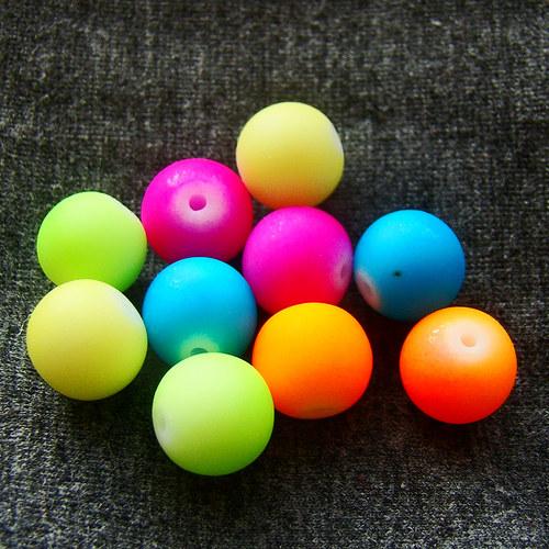 mix neonových korálků vel.10 mm - 10 kusů