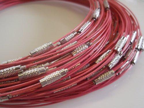 19746-B08 Lanko náhrdelník se šroubkem RŮŽOVÉ