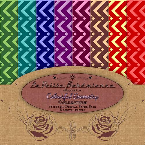Scrapbook papíry Colourful Geometry - ScP0001