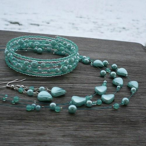 Plachá - náhrdelník s náušnicemi