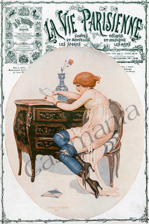 Milostné psaní - vintage motiv