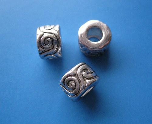 Kroužek s ornamenty, cena za 2ks