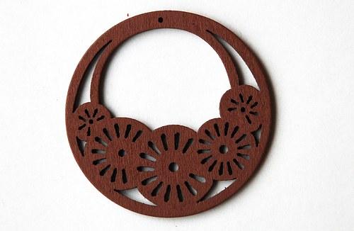 dřevěné kolečko- sv. hnědé