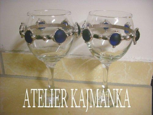 cínované skleničky