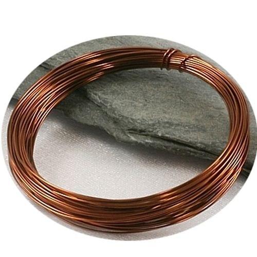 Barvený měděný drát 0,3 mm - hnědý