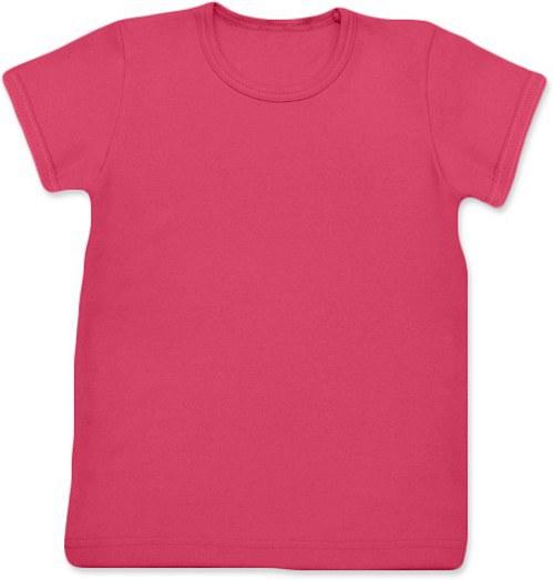 Dětské Uni tričko KR lososově růžové