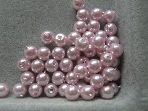 Vosková perla - růžová 5 mm / 20 ks