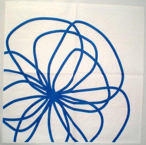 Ubrousek modrý květ