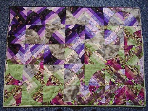 """Textilní obraz \""""Stmívání v zahradě\"""""""