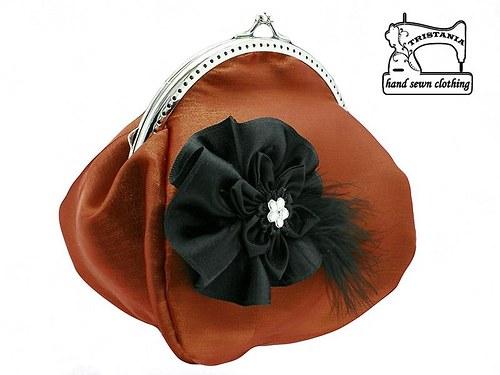 společenská kabelka s organzou -  taštička 0570