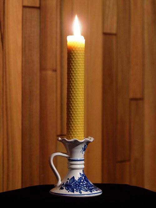 Svíčka ze včelího vosku - motaná 5