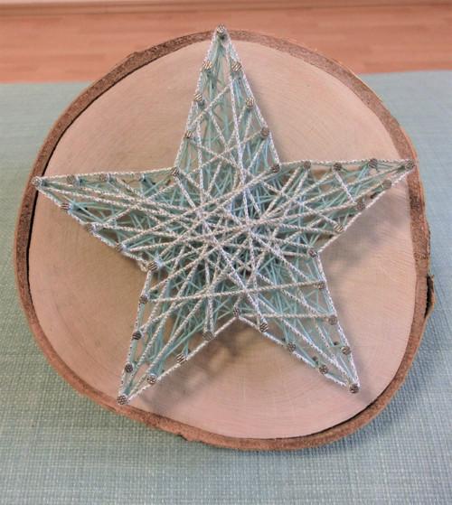 březové kolečko - hvězda