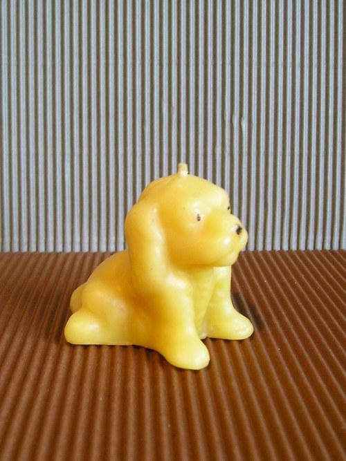 Svíčka ze včelího vosku - pes