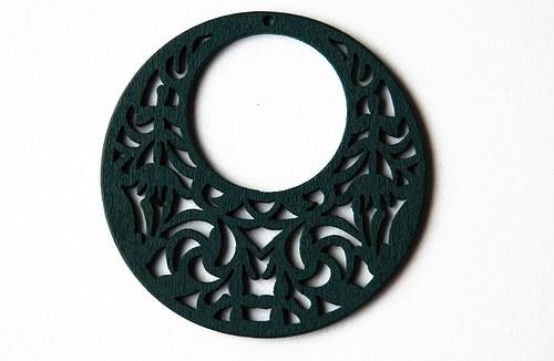 Dřevěné kolečko - tm. zelené