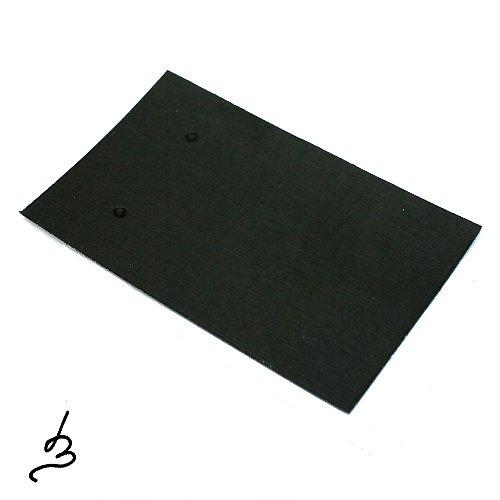Karta na náušnice černá - 5 sad