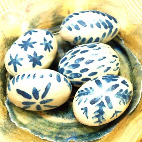 Keramická velikonoční vajíčka-sada