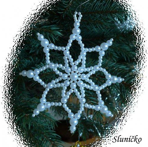 Ozdoby na stromek- hvězda