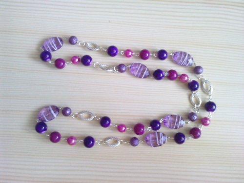 Kolekce *Fialová smyslnost* - náhrdelník