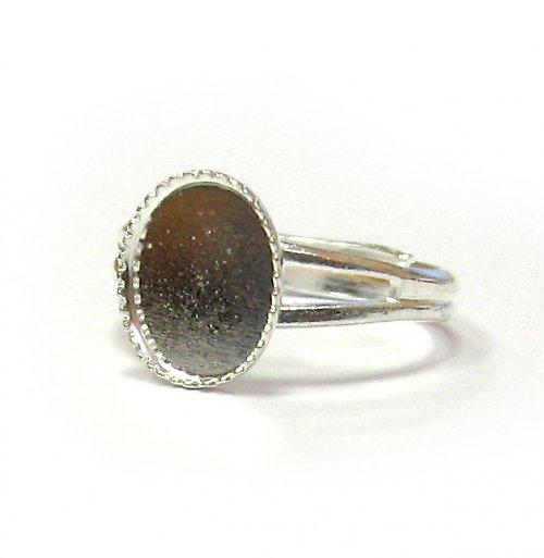 Prsten ovál - 10 x 8 mm