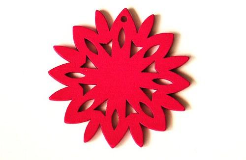 dřevěná sluníčka- sytě růžová