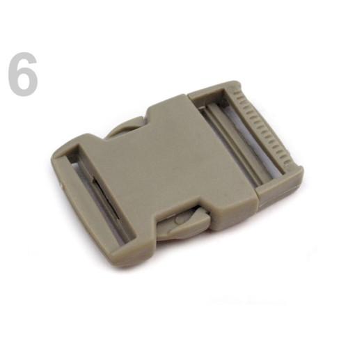 Spona trojzubec š. 30 mm (5sad) - béžová