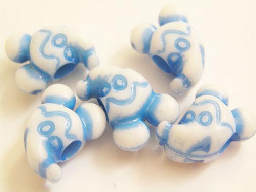 Dětské korálky - myšák modrý