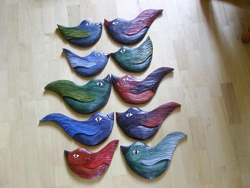 Řezbářské výrobky  ptáci všude kam se podíváš