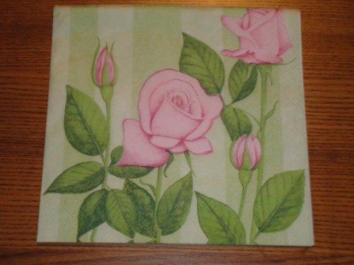 Ubrousek na decoupage - růže