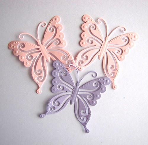 Motýli - 3 ks