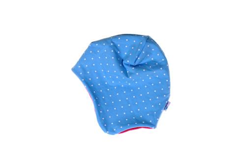Dětská čepice Puntíky na modré