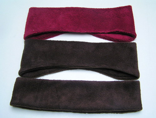Fleecová čelenka-tvarovaná na uši